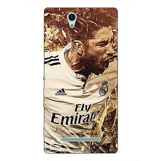 1 Crazy Designer Real Madrid Sergio Ramos Back Cover Case For Sony Xperia C3 C550588