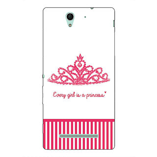 1 Crazy Designer Princess Back Cover Case For Sony Xperia C3 C551421
