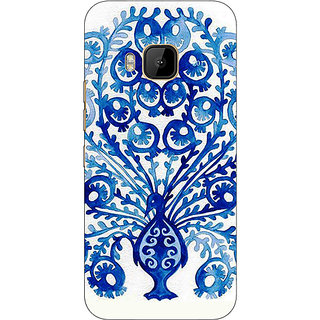 1 Crazy Designer Paisley Beautiful Peacock Back Cover Case For HTC M9 C541579