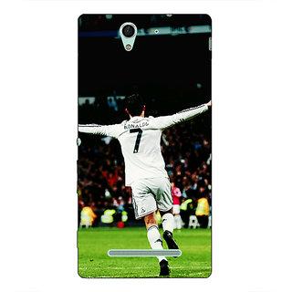 1 Crazy Designer Cristiano Ronaldo Real Madrid Back Cover Case For Sony Xperia C3 C550311
