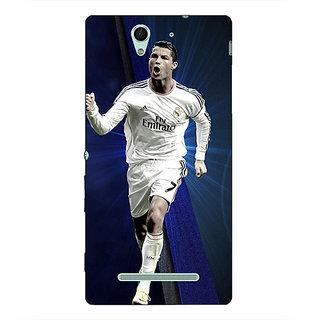 1 Crazy Designer Cristiano Ronaldo Real Madrid Back Cover Case For Sony Xperia C3 C550316