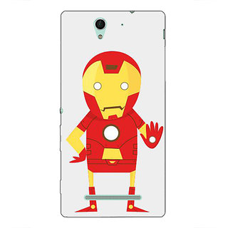 1 Crazy Designer Superheroes Iron Man Back Cover Case For Sony Xperia C3 C550329