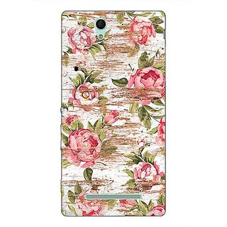 1 Crazy Designer Floral Pattern  Back Cover Case For Sony Xperia C3 C550658
