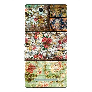1 Crazy Designer Floral Pattern  Back Cover Case For Sony Xperia C3 C550673