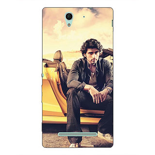 1 Crazy Designer Bollywood Superstar Arjun Kapoor Back Cover Case For Sony Xperia C3 C550919