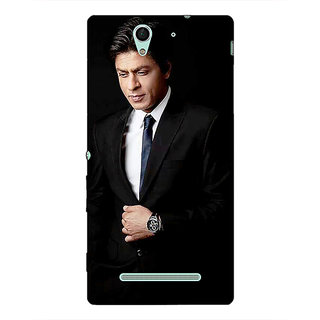 1 Crazy Designer Bollywood Superstar Shahrukh Khan Back Cover Case For Sony Xperia C3 C550926