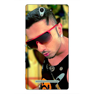 1 Crazy Designer Bollywood Superstar Honey Singh Back Cover Case For Sony Xperia C3 C551181