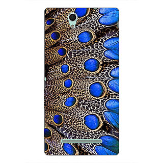 1 Crazy Designer Paisley Beautiful Peacock Back Cover Case For Sony Xperia C3 C551577