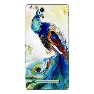 1 Crazy Designer Paisley Beautiful Peacock Back Cover Case For Sony Xperia C3 C551583