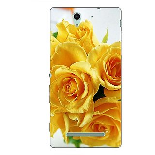 1 Crazy Designer Roses Back Cover Case For Sony Xperia C3 C550737
