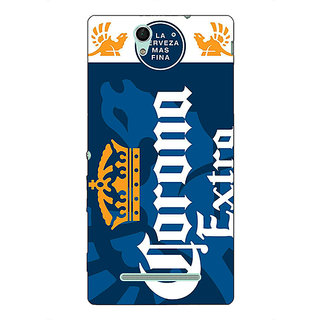 1 Crazy Designer Corona Beer Back Cover Case For Sony Xperia C3 C551249