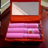 Pink Magic Strawberry Flavor Changeable Color Lipstick Set Of 4 Pc Lipstick With Lipstick Case