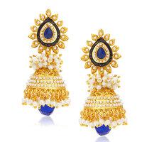 Sukkhi Intricately Gold Plated Jhumki Earring For Women