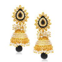 Sukkhi Glittery Gold Plated Jhumki Earring For Women