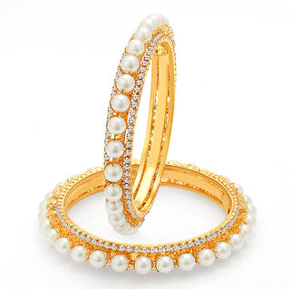 Sukkhi Finely Gold Plated Pearl Bangle For Women