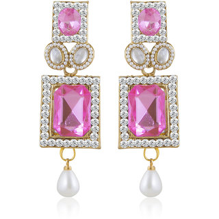 Sukkhi Appealing Gold Plated AD Earring For Women