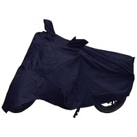 Bull Rider Bike Body Cover With Mirror Pocket For Mahindra Rodeo (Colour Blue)