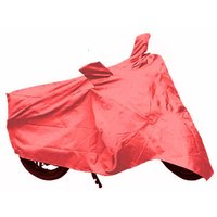Bull Rider Bike Body Cover With Mirror Pocket For Tvs Scooty Zest 110 (Colour Red)