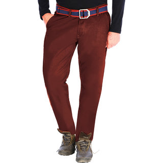 Uber Urban Men's Maroon Chinos