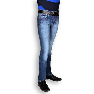 Uber Urban Men's Blue Stretch Slim Fit Denim