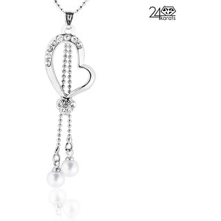 Beautiful Pearl Drop Diamond Pendent by 24Karats