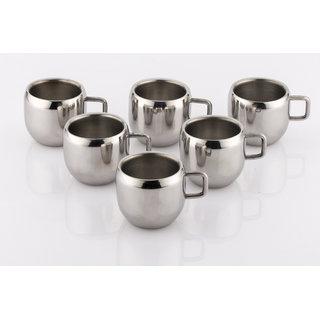 Mahavir 6Pc Ballon Tea/Coffee Cup - Double Walled(ME6BLCP)