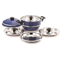 Mahavir Multi Kadai With Steamer Plate - 12Pc