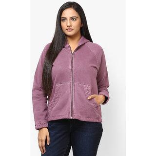 GRAIN Purple Color Regular fit Cotton Jackets for Women