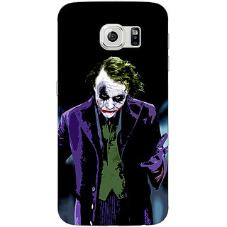 1 Crazy Designer Villain Joker Back Cover Case For Samsung S6 Edge C600045