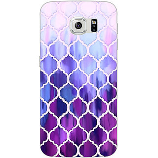 1 Crazy Designer White Purple Moroccan Tiles Pattern Back Cover Case For Samsung S6 Edge C600297