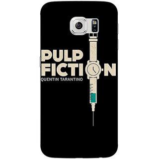 1 Crazy Designer Pulp Fiction Back Cover Case For Samsung S6 Edge C600352
