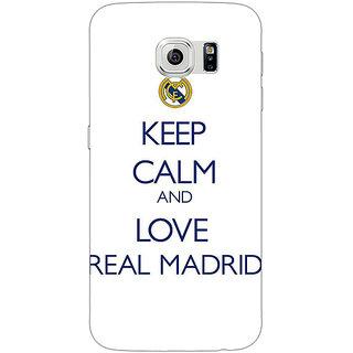 1 Crazy Designer Real Madrid Back Cover Case For Samsung S6 Edge C600600
