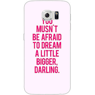 1 Crazy Designer Quotes Back Cover Case For Samsung S6 Edge C601197