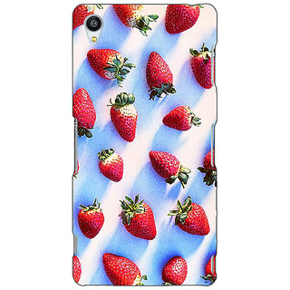 1 Crazy Designer StrawberryPattern Back Cover Case For Sony Xperia M4 C610202