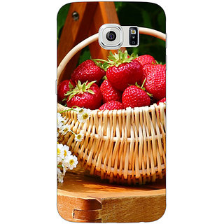 1 Crazy Designer Strawberry Love Back Cover Case For Samsung S6 Edge C600697