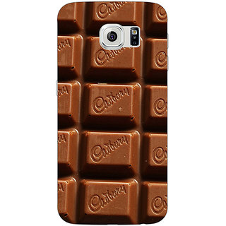 1 Crazy Designer Dairymilk Love Back Cover Case For Samsung S6 Edge C600700
