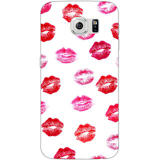 1 Crazy Designer Kisses Back Cover Case For Samsung S6 Edge C600701