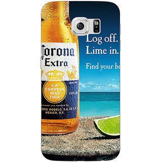 1 Crazy Designer Corona Beer Back Cover Case For Samsung S6 Edge C601237