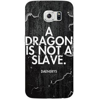 1 Crazy Designer Game Of Thrones GOT Targaryen Dragon Quote Back Cover Case For Samsung S6 Edge C601528