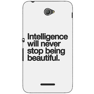 1 Crazy Designer Quotes Intelligence Beautiful Back Cover Case For Sony Xperia E4 C621186