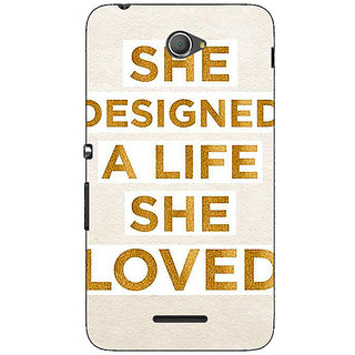 1 Crazy Designer Quotes Beautiful Back Cover Case For Sony Xperia E4 C621190