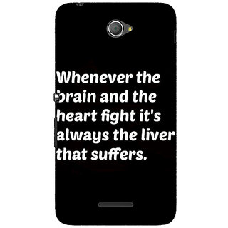 1 Crazy Designer Beer Quote Back Cover Case For Sony Xperia E4 C621239