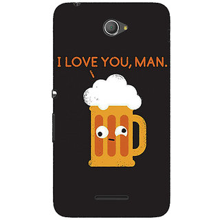 1 Crazy Designer Beer Quotes Back Cover Case For Sony Xperia E4 C621447