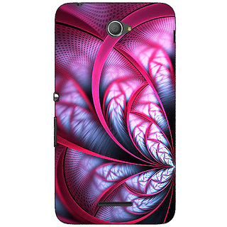1 Crazy Designer Abstract Flower Pattern Back Cover Case For Sony Xperia E4 C621501