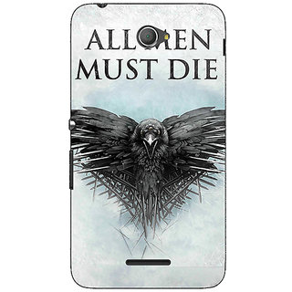 1 Crazy Designer Game Of Thrones GOT All Men Must Die Back Cover Case For Sony Xperia E4 C621556
