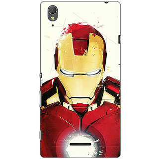 1 Crazy Designer Superheroes Ironman Back Cover Case For Sony Xperia T3 C640023