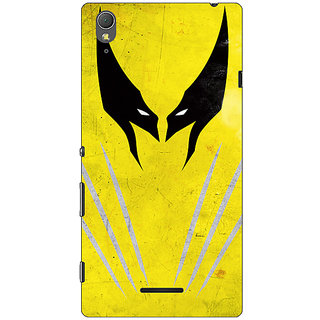 1 Crazy Designer Superheroes Wolverine Back Cover Case For Sony Xperia T3 C640336