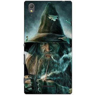 1 Crazy Designer LOTR Hobbit Gandalf Back Cover Case For Sony Xperia T3 C640364