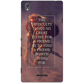 1 Crazy Designer LOTR Hobbit  Back Cover Case For Sony Xperia T3 C640367