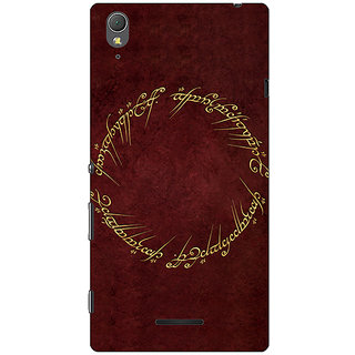 1 Crazy Designer LOTR Hobbit  Back Cover Case For Sony Xperia T3 C640369
